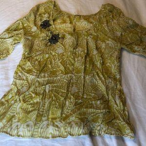 Anthropologie Silk Blouse